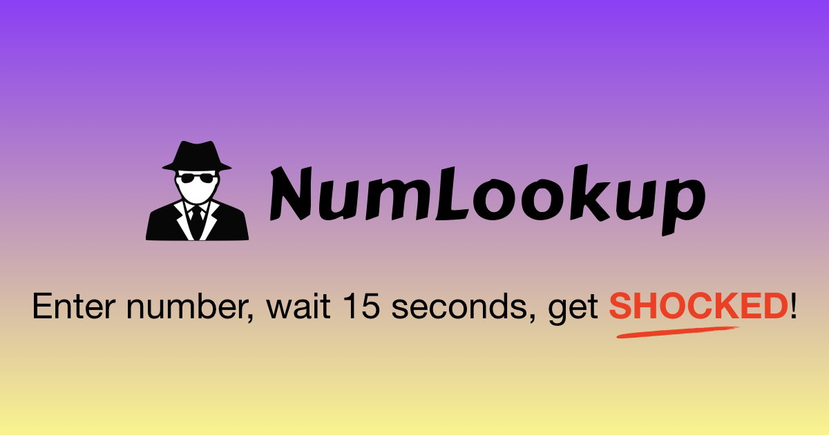 Free Reverse Phone Number Lookup | Cell Phone Search | NumLookup